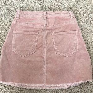 Brandy Melville Skirts - Brandy Melville Pink Corduroy Skirt